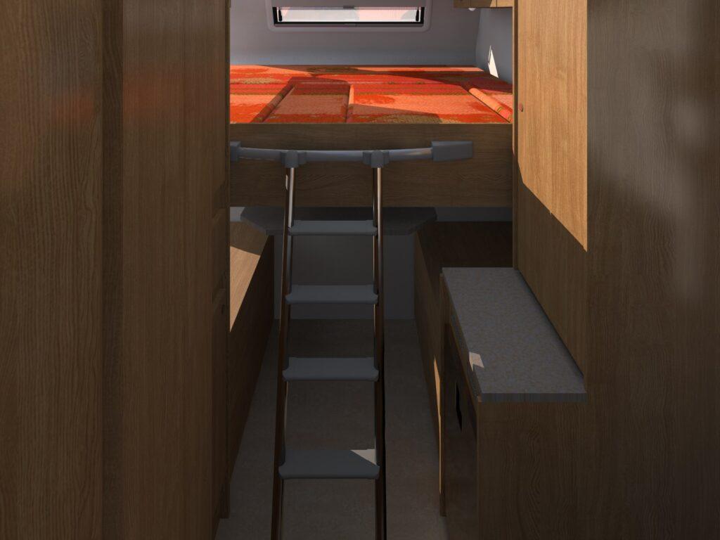 Bed Interieur Amarok 4x4 roadtrip camper